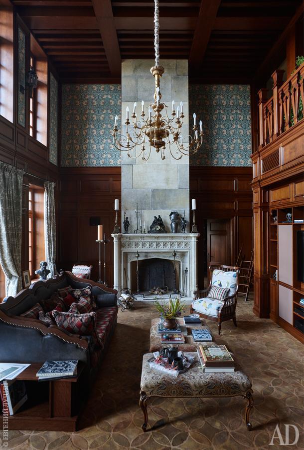 Гостиная. Вся мягкая мебель произведена на итальянской фабрике Croce.