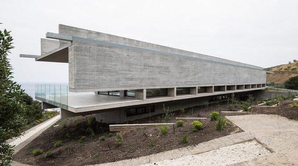 Дом из железобетонных балок в Чили
