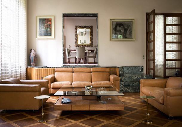 Малая гостиная с мебелью фабрики Освальдо Борсани.