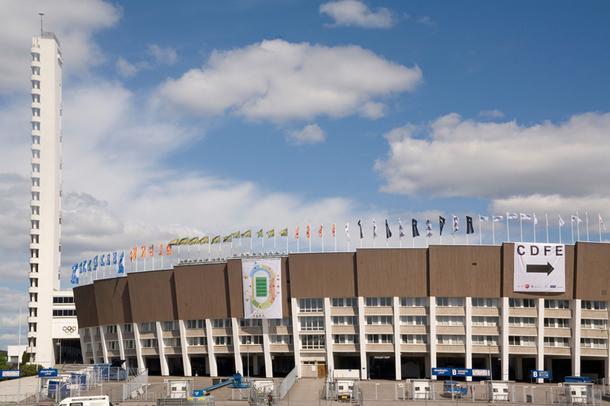 Олимпийский стадион в Хельсинки, 2009 год.