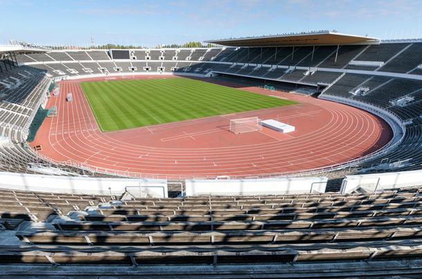 Олимпийский стадион в Хельсинки, 2014 год.