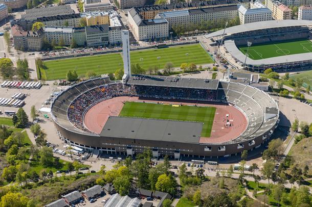 Олимпийский стадион в Хельсинки, 2015 год.