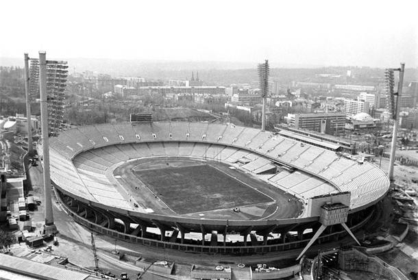 Олимпийский стадион в Киеве, 1980 год.