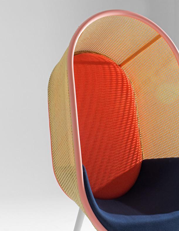 Кресло-кокон, вдохновленное модернизмом 60-х