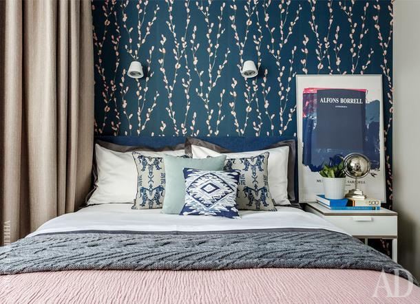 Спальня. Постельное белье и текстиль, Happy Collections; покрывало, H&M Home.