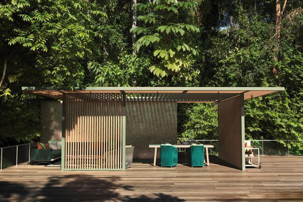 Минималистичный павильон с кухней от Kettal