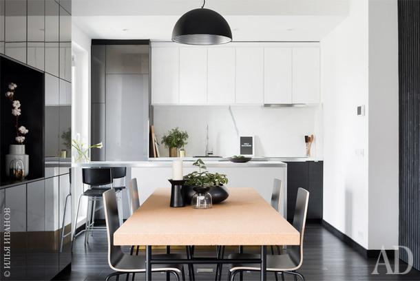 Кухня-столовая. Вся мебель, IKEA; аксессуары, H&M Home, Crate and Barrel, Zara Home, Iittala.