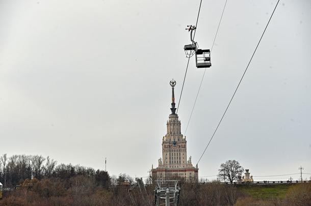 Новая канатная дорога на Воробьевых горах готова к запуску