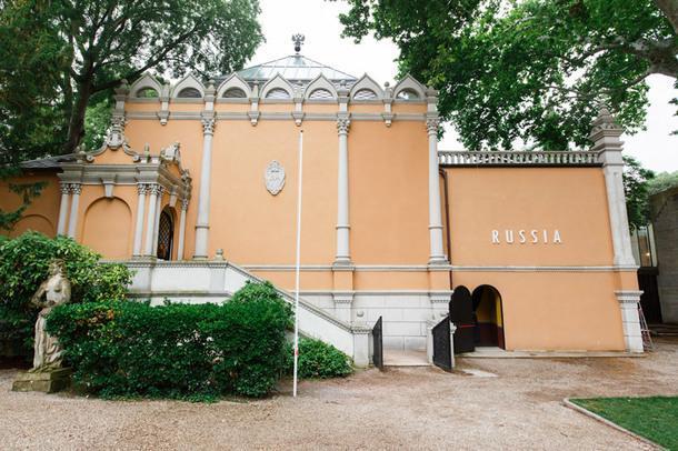 Фасад павильона России на Венецианской архитектурной биеннале.