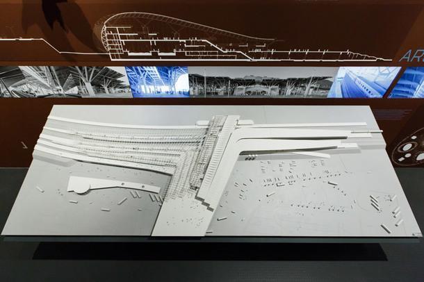 Макет вокзала в Олимпийском парке Сочи.