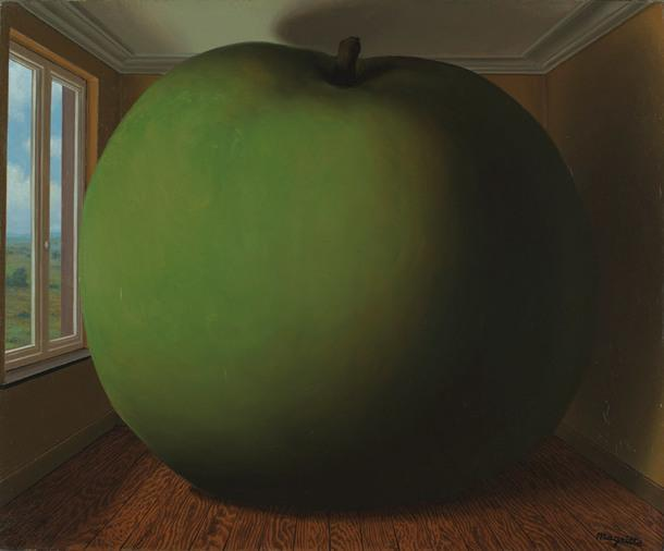 René Magritte, The Listening Room, 1952.