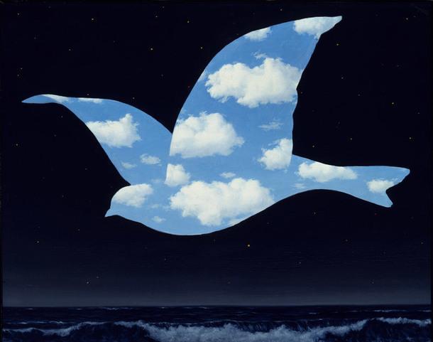 René Magritte, The Kiss, 1951.