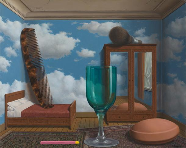 René Magritte, Personal Values, 1952.
