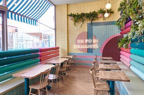 Яркий итальянский ресторан в Лионе