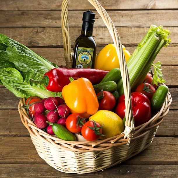Корзина с овощами, Moscow Fresh.