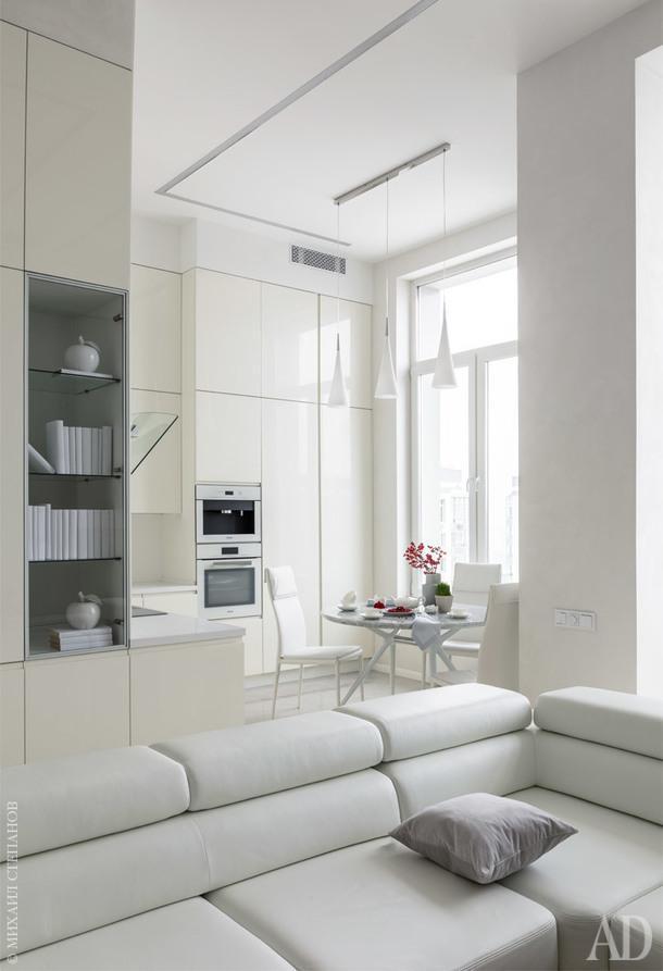 Кухня-столовая и гостиная совмещены. Гарнитур, Mittel.