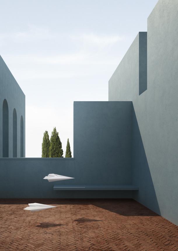 Цифровое искусство, вдохновленное архитектурой Луиса Баррагана и Рикардо Бофилла