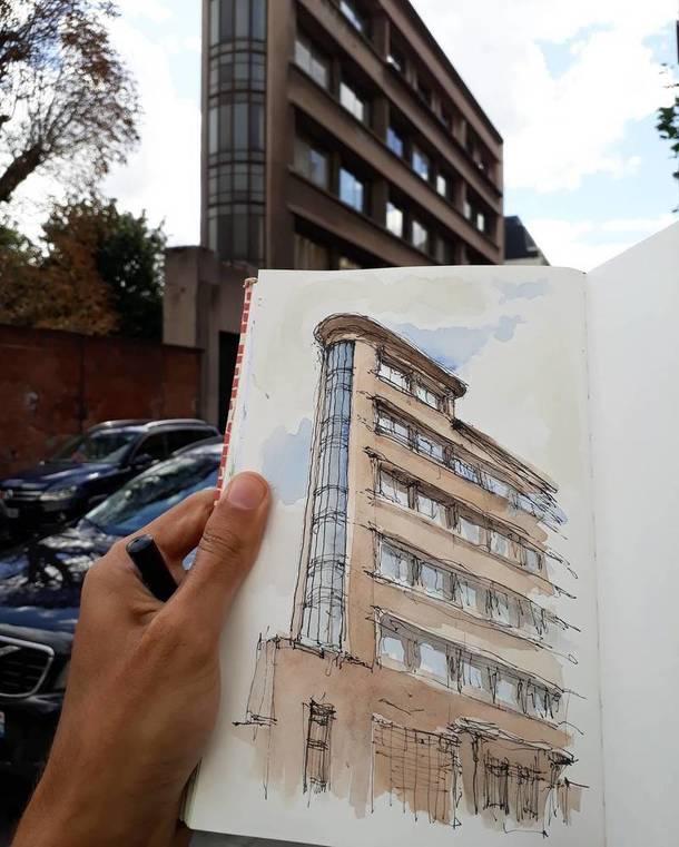 Инстаграм дня: Париж в скетчбуке студента-архитектора