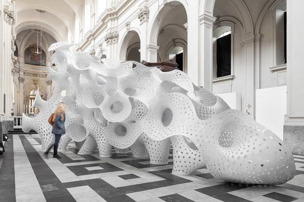 Инсталляция в Брюгге от бюро Marc Fornes / Theverymany