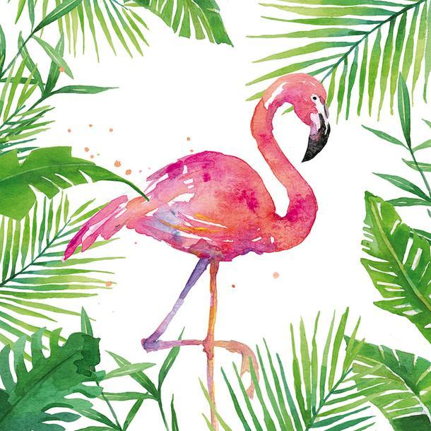 Салфетки Tropical Flamingo, Paperproducts Design.