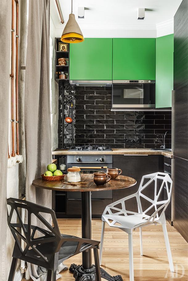 Кухонный гарнитур, IKEA; дубовая столешница сделана на заказ.