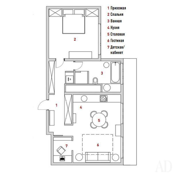 Квартира в Люберцах, 60 м²
