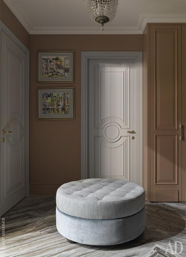 "Прихожая. Шкафы и двери, ""Новый Интерьер""; пуф, Anna Muravina Home."