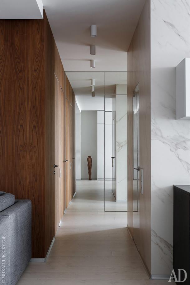 Квартира спланирована таким образом, чтобы избежать ненужных дверей и перегородок.