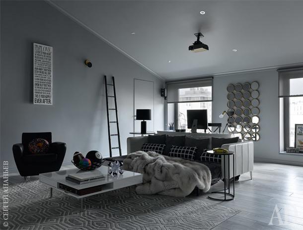Детская гостиная. Стол идиван, все IKEA; кресло, Ligne Roset; столик, Ángel Cerdá; настольная лампа и зеркало, все Julià Grup; ковер выполнен по эскизам дизайнера нафабрике NowCarpets.