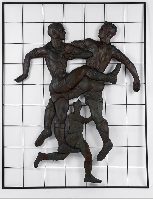 "А. А. Дейнека. ""Футболисты"", медь. 1948–1955."