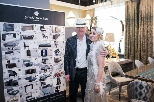 Владелец фабрики Фабио Мазоло с дизайнером Марией Серебряной.