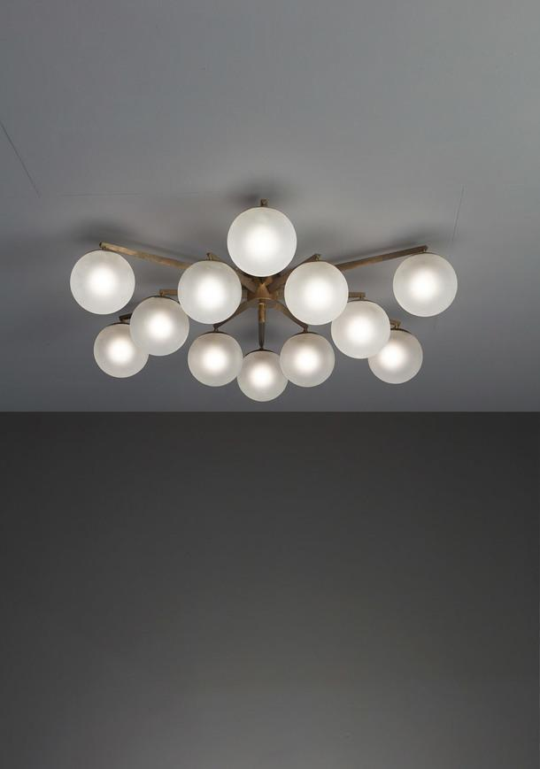 Andrew Lelii, Angelo Lelii, Twelve-Arm Ceiling Light.