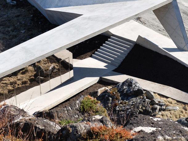 Придорожная зона отдыха в Норвегии