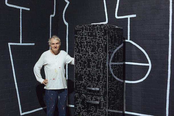 Стрит-арт Тьери Нуара на холодильнике Smeg