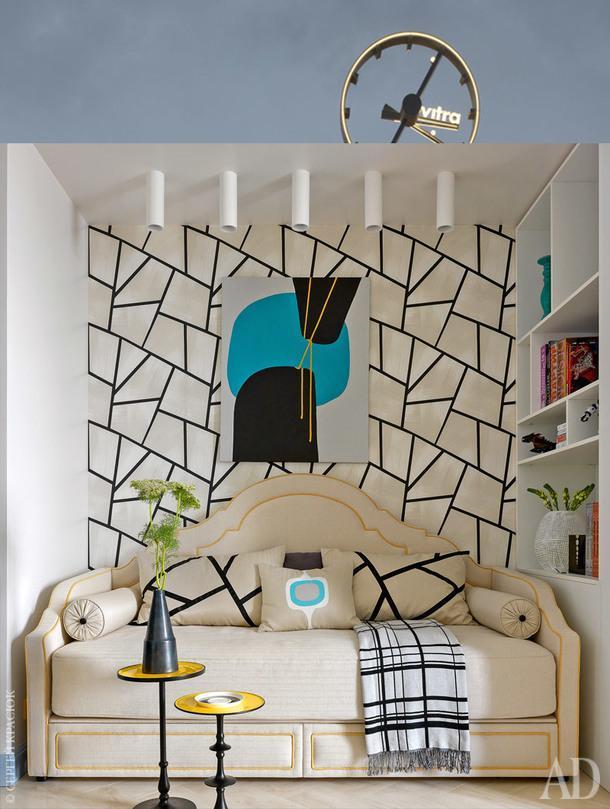 Фрагмент детской вмосковской квартире с интерьером по проекту Виктории Колтыпиной.
