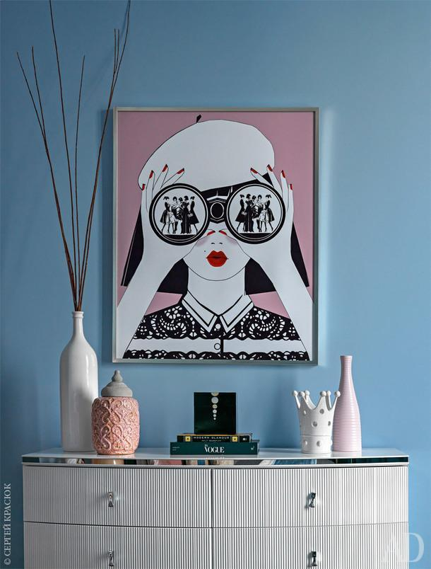 Над комодом, Fratelli Barri, постер, сделанный на основе иллюстрации из журнала для молодых родителей.