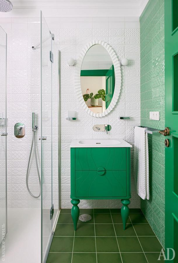Фрагмент ванной. Керамическая плитка, Equipe.