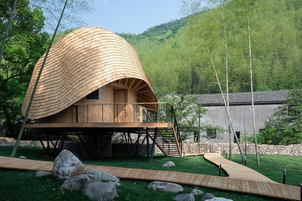 Бамбуковый дом в Китае