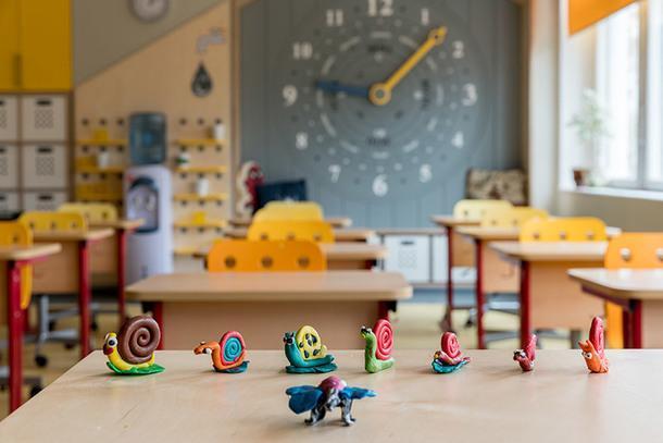 Вид класса со стороны учительского стола.