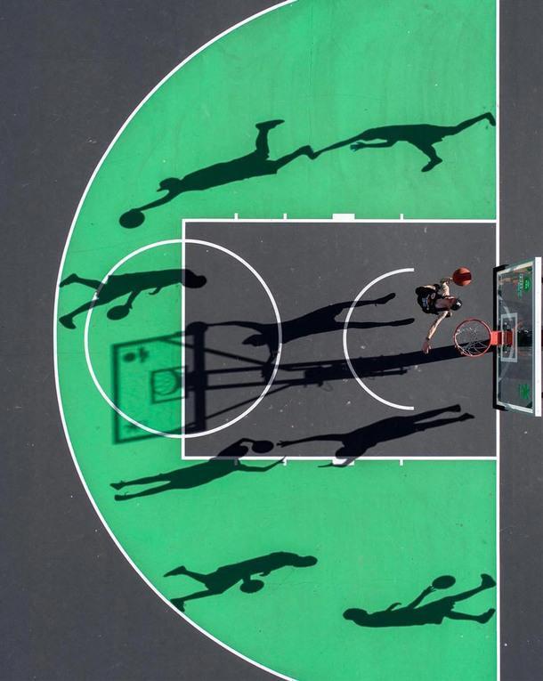 Инстаграм дня: спортивные площадки с высоты птичьего полета