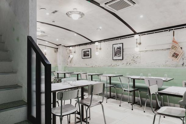 Итальянский ресторан в пастельных тонах в Сохо