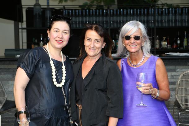 Анастасия Ромашкевич, AD, Сирена Ди Клименте, Armani, и Кристина Грубас, Condé Nast.