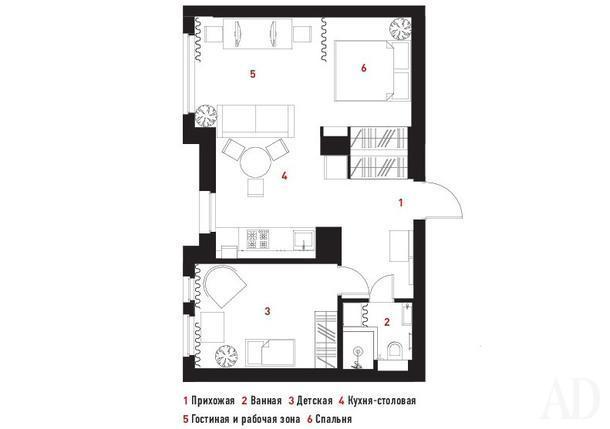 Квартира в Москве, 50 м²