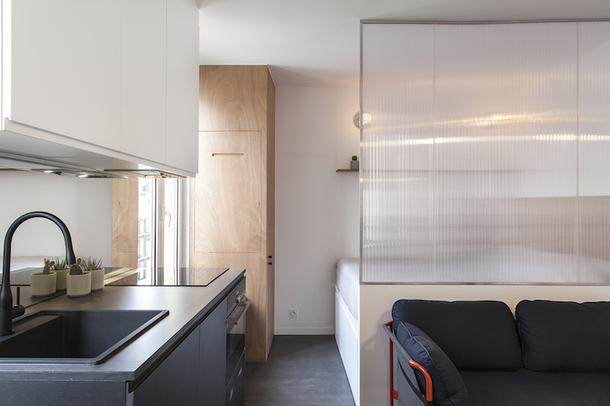 Маленькая квартира в Париже, 28 м²