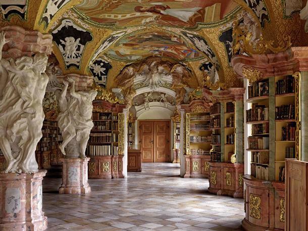Klosterbibliothek Metten, Меттен, Германия.