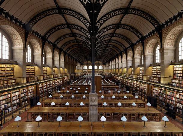 Bibliothèque Sainte-Geneviève, Париж, Франция.