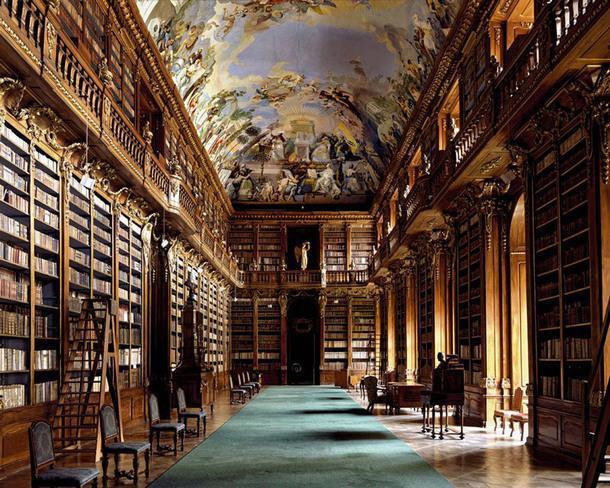 Strahovská Knihovna, Прага, Чехия.