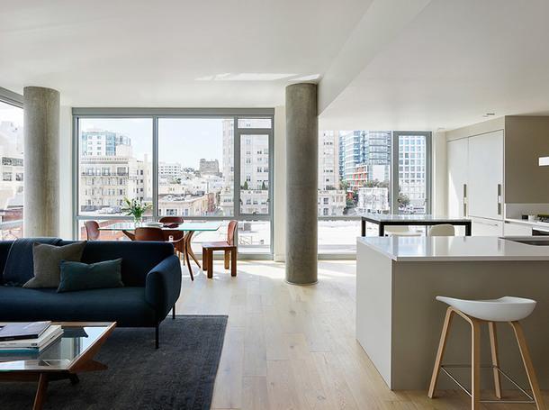 Современный жилой комплекс в Сан-Франциско