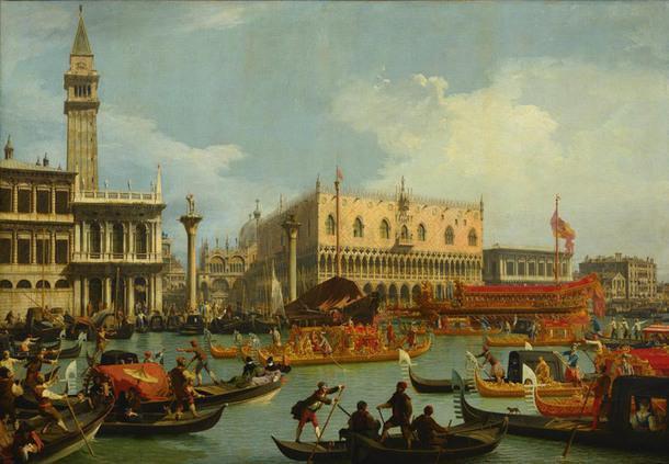 Джованни Антонио Каналь, прозванный Каналетто_Возвращение Бучинторо к молу у Дворца дожей.