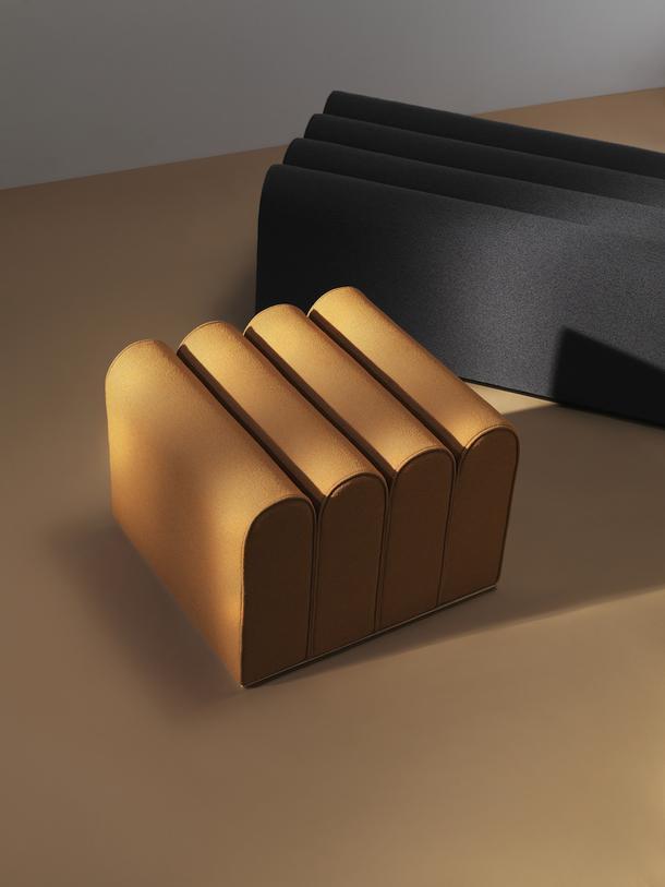 Яркие архитектурные пуфики от Note Design Studio